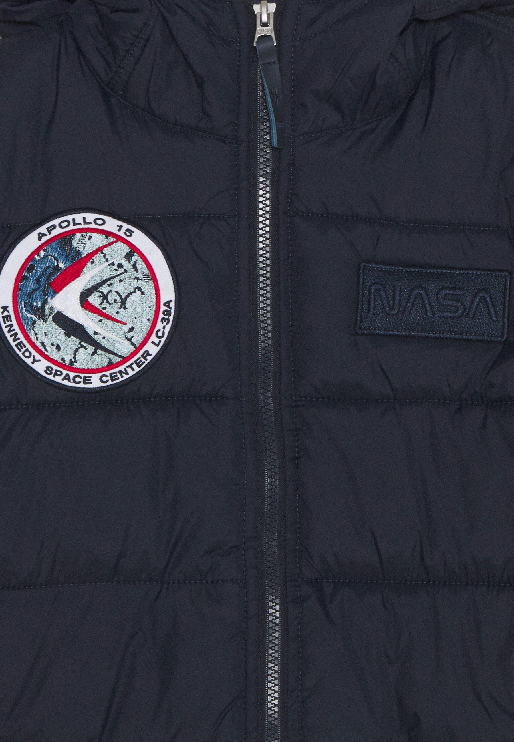 Alpha Industries HOODED PUFFER NASA KIDS Lett jakke blue