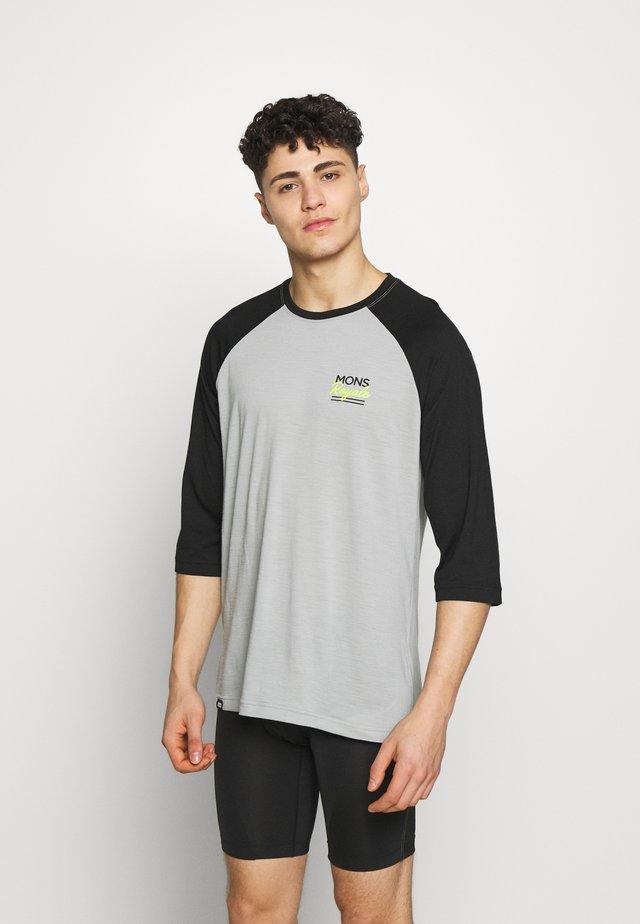 TARN FREERIDE RAGLAN 3/4 - Treningsskjorter - black/grey