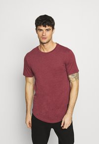 Only & Sons - MATT 7 PACK - Basic T-shirt - light red melange/light grey melange/green melan/anthracite melange/white - 3