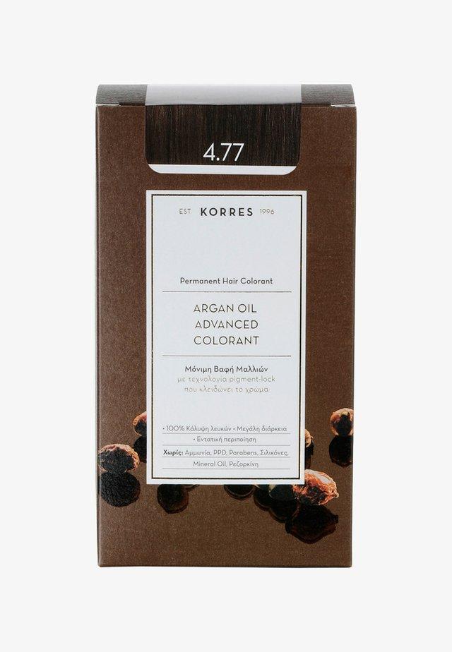 ARGAN OIL ADVANCED COLORANT - Koloryzacja włosów - 4.77 dark choco