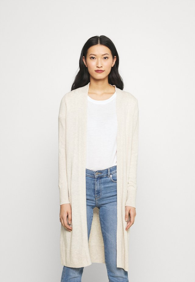 DUSTER CARDI - Neuletakki - oatmeal heather