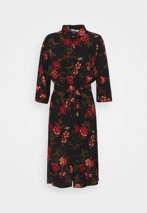 ONLNOVA SHIRT DRESS - Skjortekjole - black