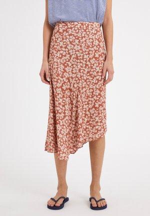 AASY STRAW FLOWER - A-line skirt - oatmilk