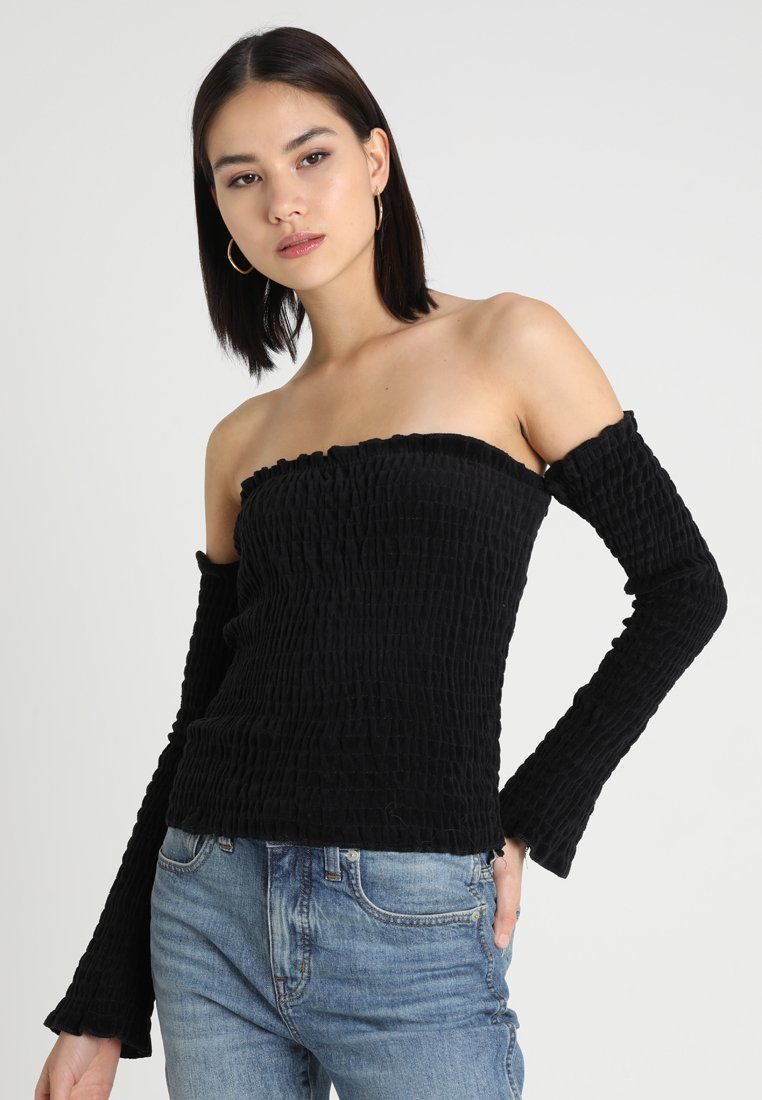 Women LADIES COLD SHOULDER SMOKE - Long sleeved top