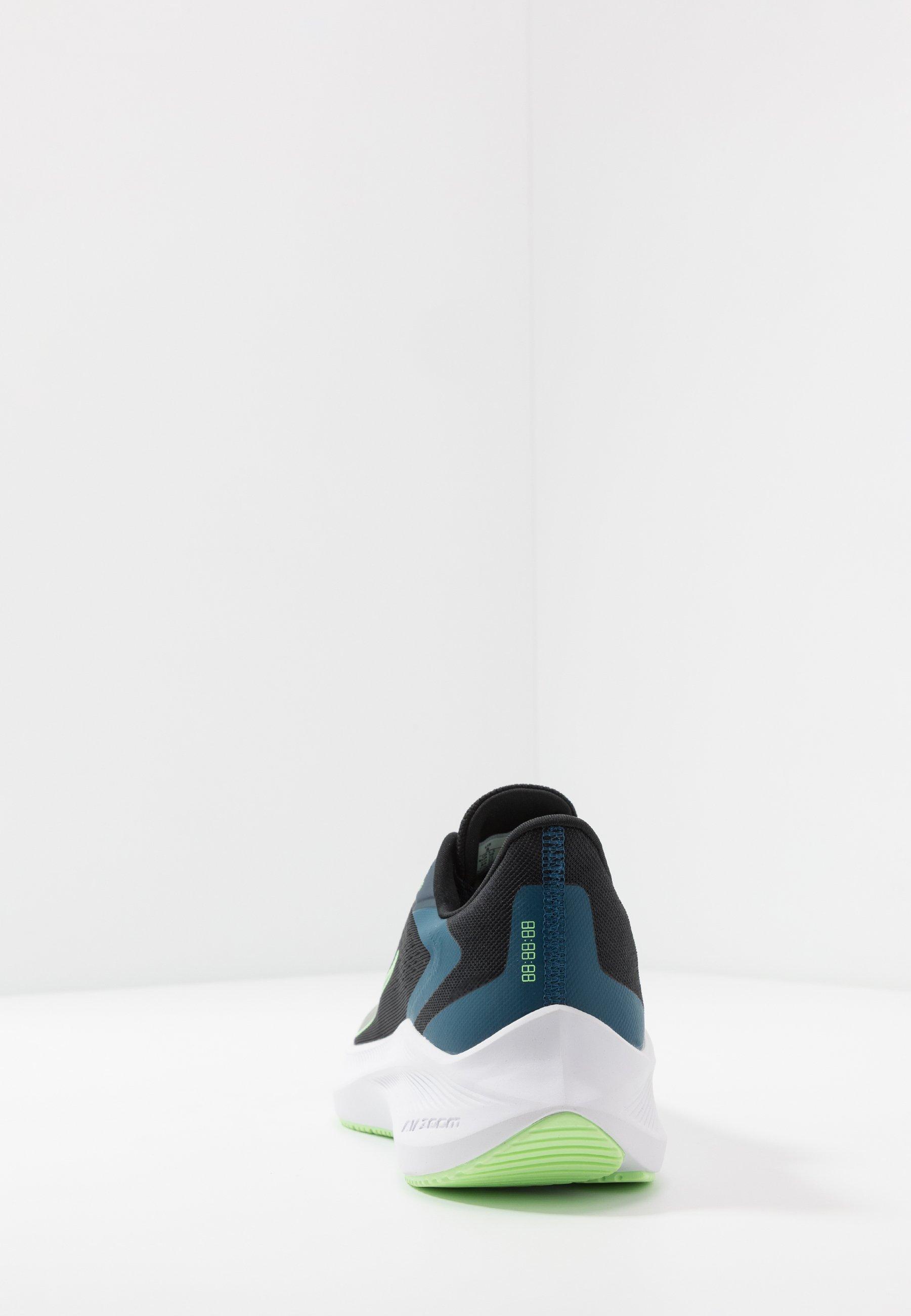 ZOOM WINFLO 7 Neutrala löparskor blackvapor greenvalerian blue