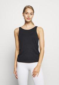 Nike Performance - YOGA RUCHE TANK - Treningsskjorter - black - 0