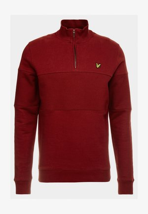 CONTRAST PANEL FUNNEL NECK - Sweatshirt - brick red