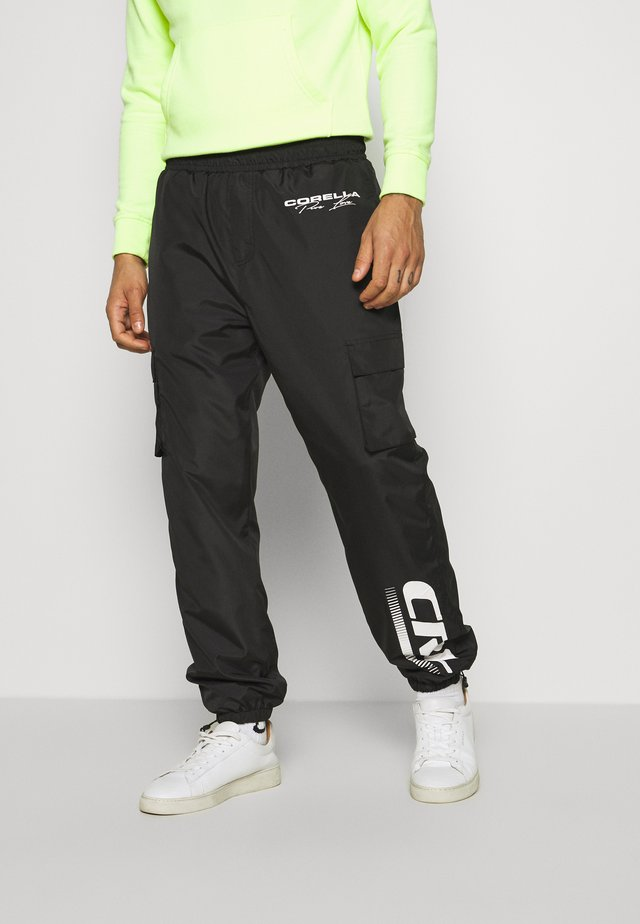 UTILITY TROUSERS - Cargobukser - black/white