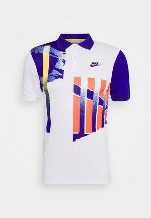 ADVANTAGE - Polo shirt - white/ultramarine/solar red