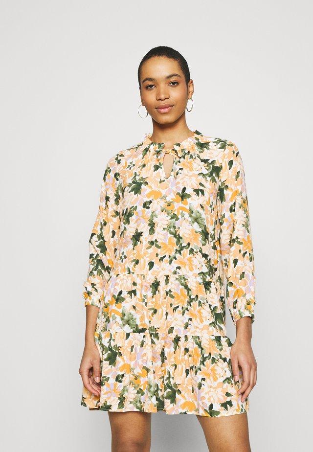 PRINTED DRESS - Vapaa-ajan mekko - multi-coloured/light yellow