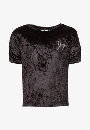 T-shirt print - caviar/black