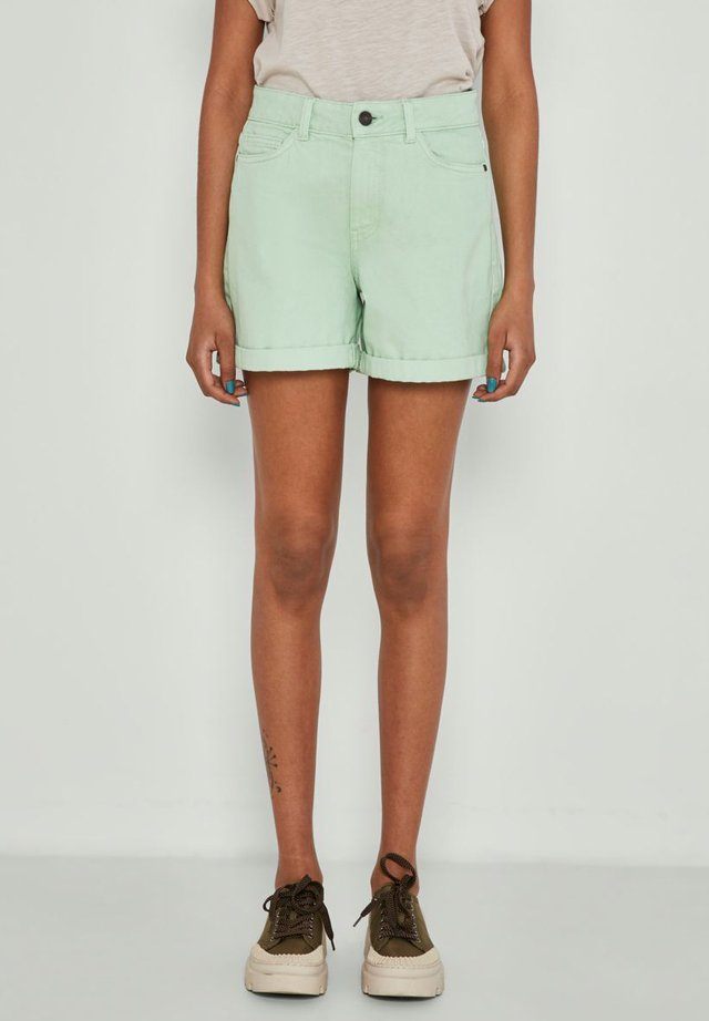 NMSMILEY - Szorty jeansowe - light green