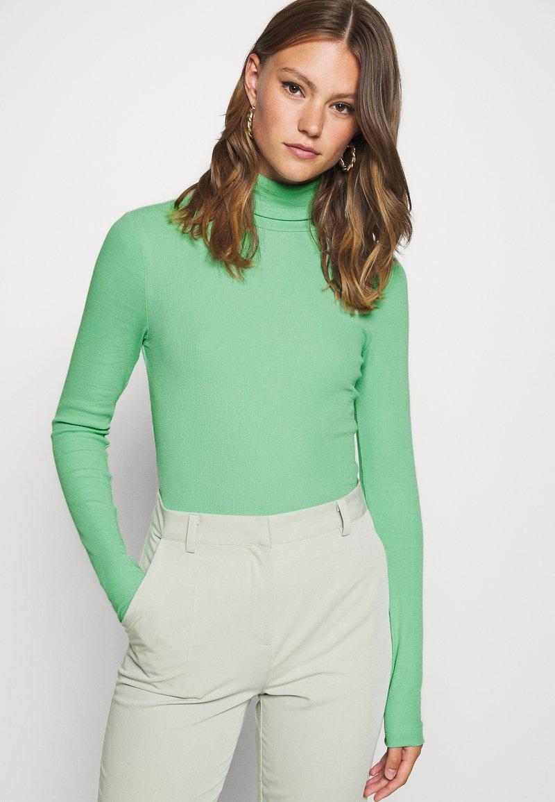 Weekday - VERENA TURTLENECK - Long sleeved top - sage green