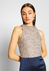 Lace & Beads - SAOIRSE MAXI - Occasion wear - navy/nude/silver - 5