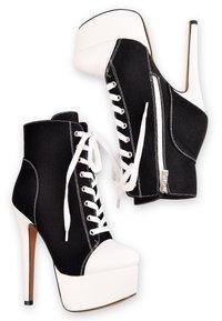 Only Maker - Lace-up ankle boots - black denim - 2
