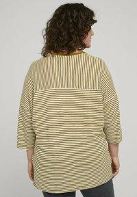 MY TRUE ME TOM TAILOR - MIT STREIFEN - Long sleeved top - ecru umber stripe - 2
