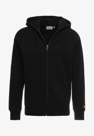 HOODED CHASE - Bluza rozpinana - black/gold