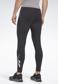 Reebok - THERMOWARM TOUCH BASE LAYER BOTTOMS - Tights - black - 2