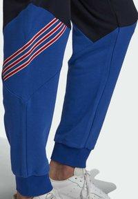 adidas Originals - SPRT ARCHIVE MIXED MATERIAL JOGGINGHOSE - Träningsbyxor - blue - 4