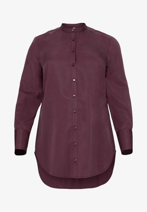 Button-down blouse - aubergine
