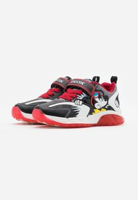 Geox - SPAZIALE BOY - Zapatillas - black/red - 1