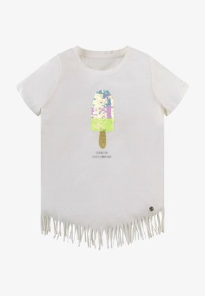 MIT FRANSEN - T-shirt print - cloud dancer|white