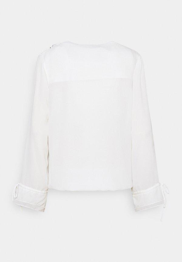 Esqualo BLOUSE DOUBLE RUFFLE - Bluzka - off white/mleczny GYMU
