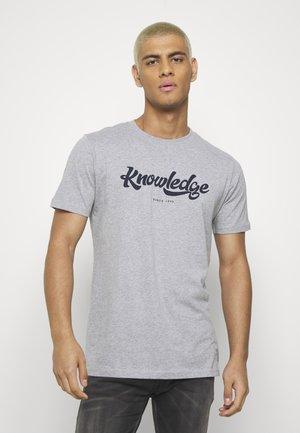 ALDER BIG TEE - T-shirt imprimé - mottled grey