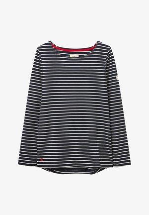 T-shirt à manches longues - cremefarben marineblau streifen