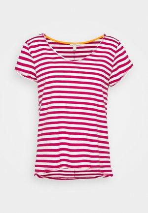 SLUB - T-Shirt print - dark pink