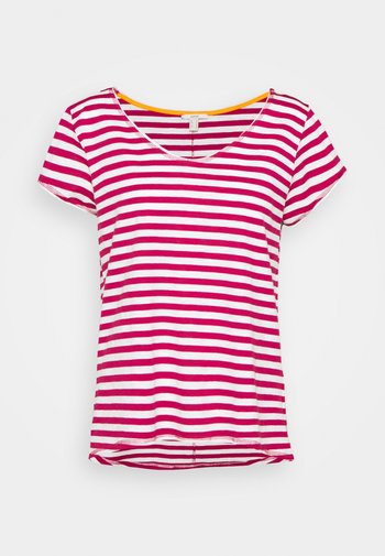 SLUB - Print T-shirt - dark pink