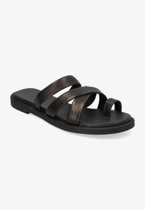 CAIRO - Sandalias de dedo - black