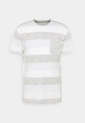 JJSTRIPE TEE CREW NECK - T-shirt con stampa - dusty olive