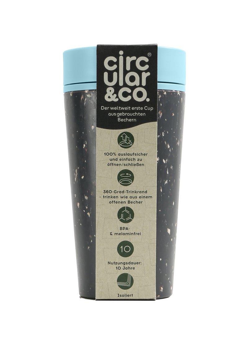 Circular&Co - CIRCULAR & CO KAFFEEBECHER TO GO MIT DECKEL - 340 ML - Drink bottle - schwarz / blau