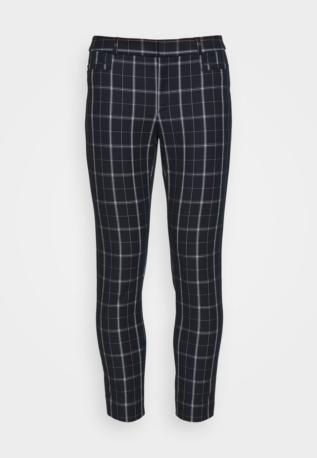 MODERN SLOAN GRID PLAID - Trousers - preppy navy
