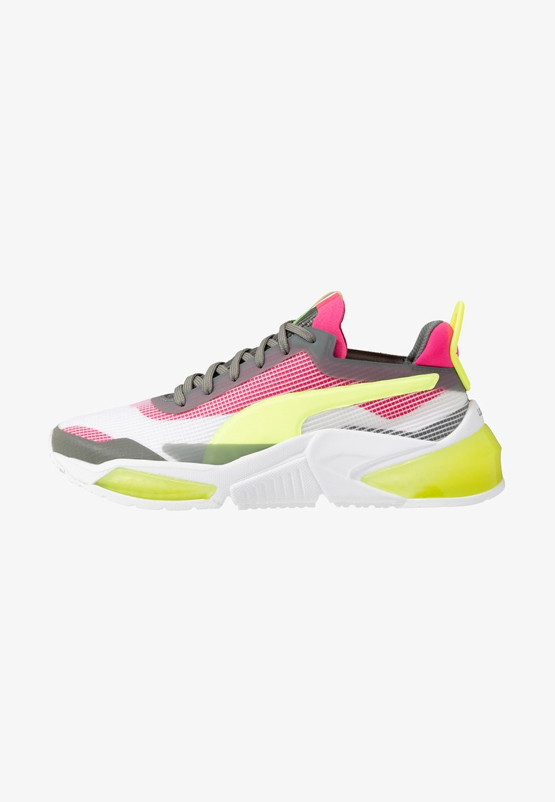 Puma - LQDCELL OPTIC XI  - Neutral running shoes - white/ultra gray/fizzy yellow