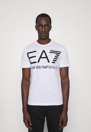 T-shirt med print - white/black