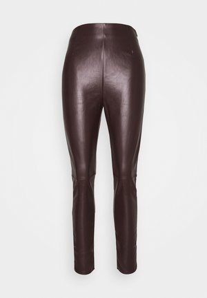 SEAM DETAIL  - Leggings - chocolate