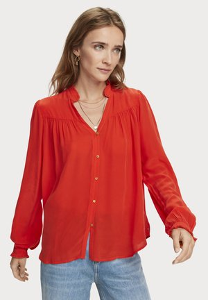 ong sleeve  - Button-down blouse - orange shell