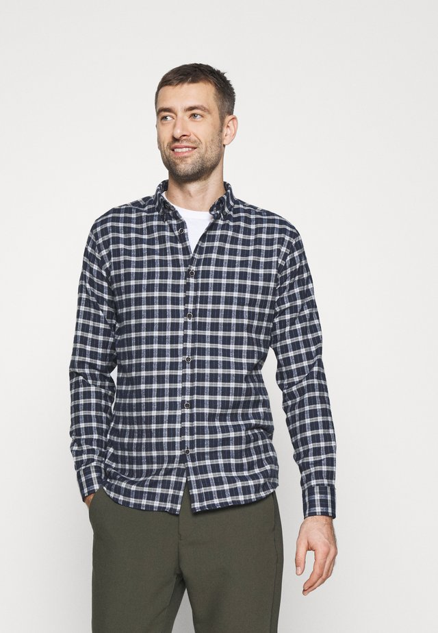JOHAN BRUSHED CHECK - Camicia - navy