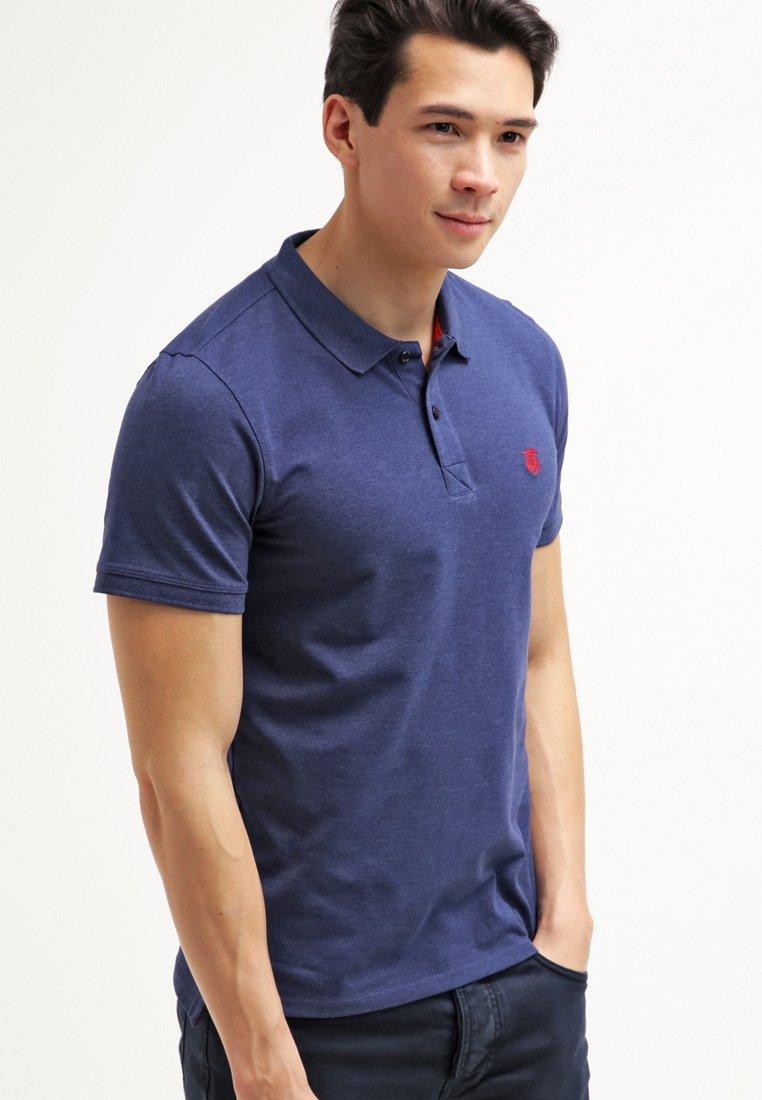 Selected Homme - SLHARO EMBROIDERY - Polo shirt - dark blue melange