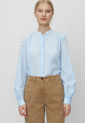 Button-down blouse - mottled blue