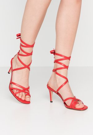 ANKLE STRAP STILETTO HEELS - High heeled sandals - red