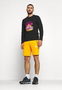 The North Face - MENS GRAPHIC TEE - Bluzka z długim rękawem - black/lemon - 1