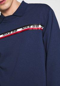 Nike SB - M NK SB ON DECK NOVELTY CREW - Top sdlouhým rukávem - midnight navy - 5