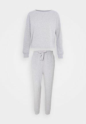 Pyjama set - mottled light grey