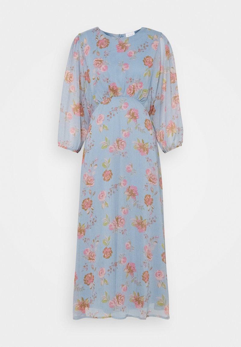Vila - VIDIANELLA O NECK MIDI  DRESS - Cocktail dress / Party dress - ashley blue/pink