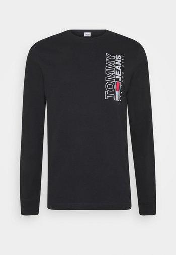 VERTICAL TEE - Long sleeved top - black