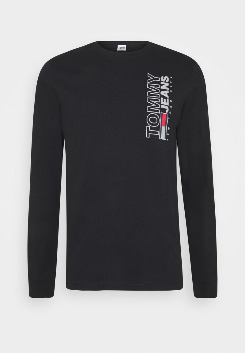 Tommy Jeans - VERTICAL TEE - Maglietta a manica lunga - black