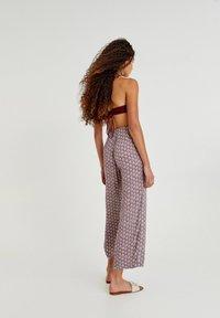 PULL&BEAR - Trousers - mottled purple - 2